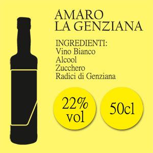 Amaro La Genziana di Casamarii, bottiglia da 50 cl