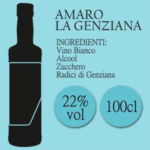 Amaro La Genziana di Casamarii, bottiglia da 100 cl